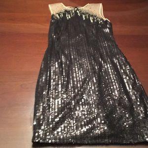 Tadashi Shoji Black Beaded Dress NWT